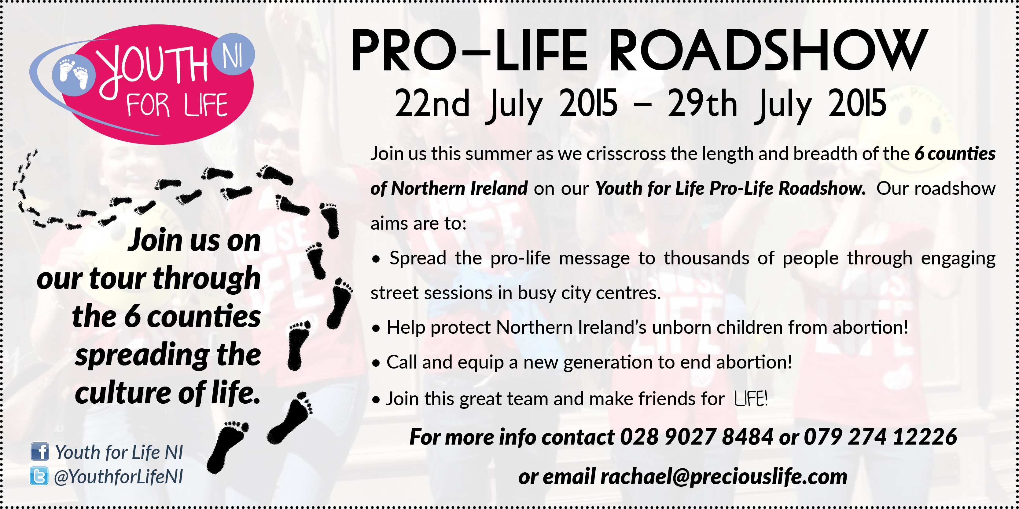 Youth for Life PRO-LIFE ROADSHOW