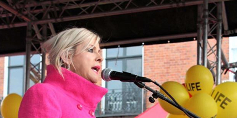 Bernadette Smyth tells the 100,000 at the rally that the Irish people will