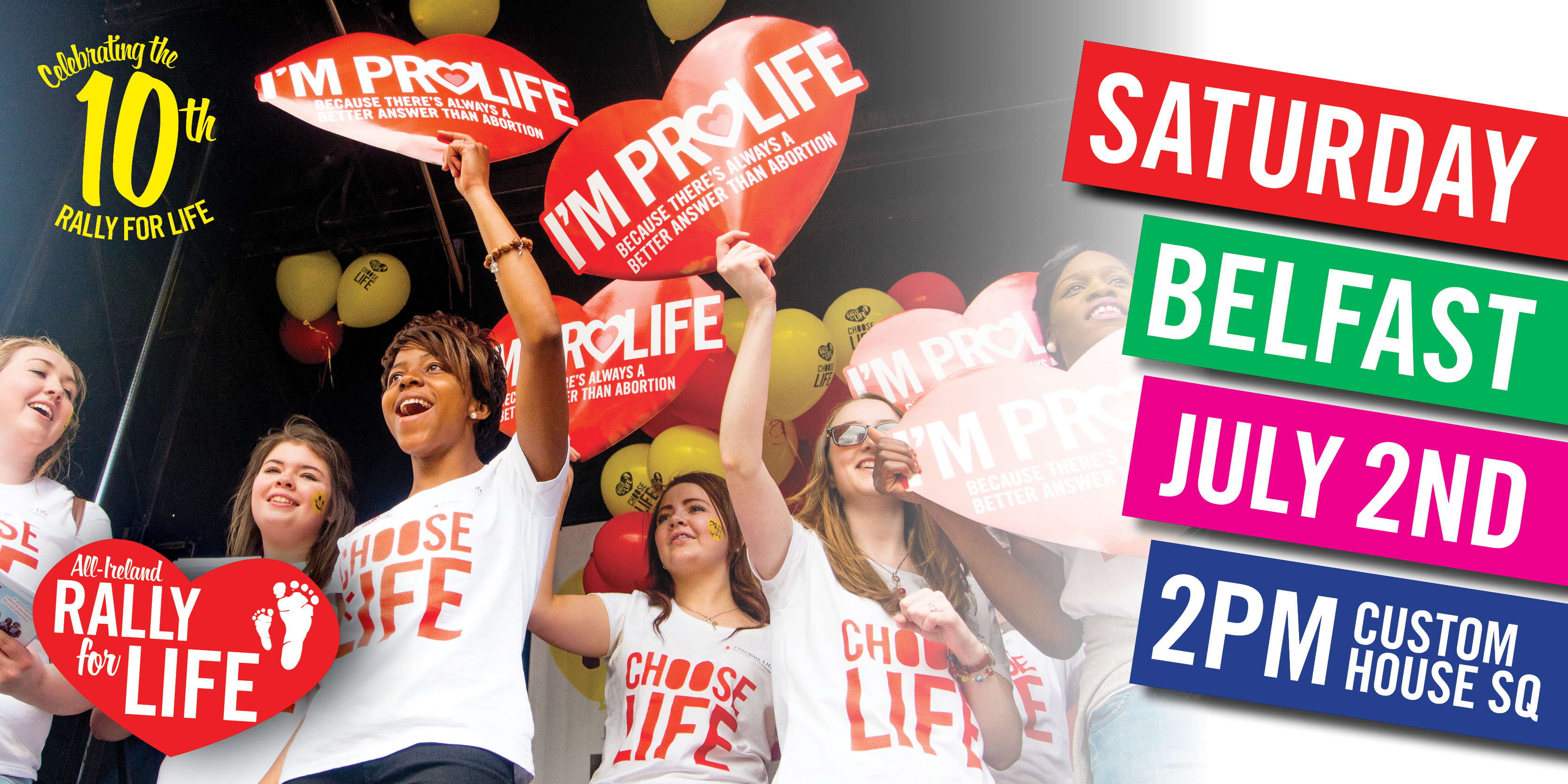 Rally for Life - Belfast - July 2nd 2016